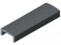 Abdeckprofil Profilrohr D30, grau ähnlich RAL 7042