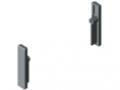 Set di montaggio per profilato di tamponamento 8 50x10, grigio simile a RAL 7042