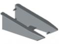 Profilé de prélèvement 8 140x50 kit de montage, gris semblable RAL 7042