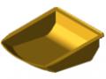 Vaschetta ad incastro 8 105x130, giallo simile a RAL 1023