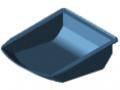 Bac 8 105x130, bleu semblable RAL 5017