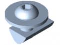 Kit de fixation 8 pour roulette pivotante/fixe 140x110
