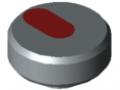 Ecrou moleté Pi D34 M5 PA, gris