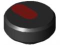 Rändelmutter Pi D34 M5 PA, schwarz