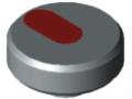 Ecrou moleté Pi D44 M6 PA, gris