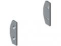Embouts pour profilé support bacs D30, gris semblable RAL 7042