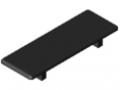 Winkel-Abdeckkappe 12 120x120, schwarz