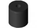 Butée élastique cylindrique M8 D30x30, noir