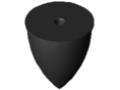Butée élastique parabolique M12 D75x89, noir
