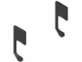 C-Schiene, Schienenprofil-Abdeckkappensatz 6, schwarz