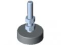 Stellfuß X D40, M8x60, grau ähnlich RAL 7042