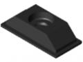 Gummieinsatz 80x40, schwarz