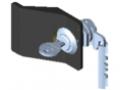 Verrou 6, à clé avec crochet de tirage, application droite