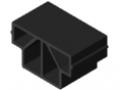 Rollenschiene 8 40x40, Gleitleiste ESD, schwarz