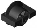 Insert à galet D30 à rebord ESD, noir semblable RAL 9005