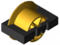 Inserto a rullo D30 con spalla, giallo segnale simile a RAL 1003