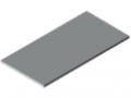 Tischplatte 25-1200x600 kunststoffbeschichtet, grau ähnlich RAL 7035