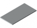 Plan de travail 30-1200x600, revêtement HPL, gris semblable RAL 7035