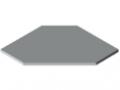 Plans de travail TRIGO 30-600 HPL, gris semblable RAL 7035