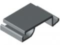 Verriegelung 40 Kanalprofil K, grau ähnlich RAL 7042