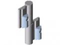 Falttür-Scharnier Al für Klemmprofil 8 32x18