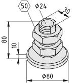 Nivellierfüße D80, M33x80