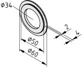 Zentrierung D60-D50, schwarz