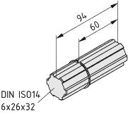 Verbindungswelle VK32 R25