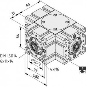 Winkelgetriebe WG 180°