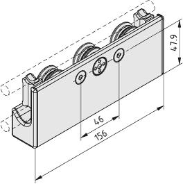 C-Schiene, Lagereinheit 6 D10 3R