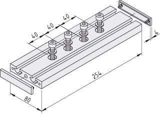 Schlittenplatte KLE 8 80x80