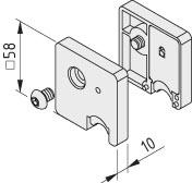 Abstreif- und Schmiersystem 8 D14, grau