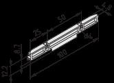 Lagerschiene 100 D4-50 ESD, schwarz ähnlich RAL 9005
