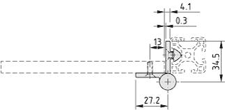 Scharnier 6 Al FP4 leicht