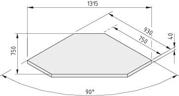 Tischplatte TRIGO 40-750 Buche Multiplex, lackiert