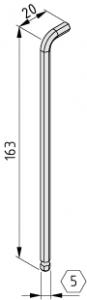 Winkel-Schraubendreher SW5 N