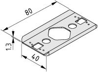 Radien-Dichtung 8 80x40 R80, grau ähnlich RAL 7042