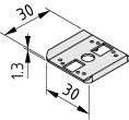 Radien-Dichtung 6 30x30, grau ähnlich RAL 7042