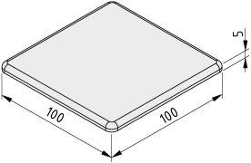 Abdeckkappe 10 100x100, grau ähnlich RAL 7042