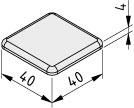 Abdeckkappe 8 40x40, grau ähnlich RAL 7042