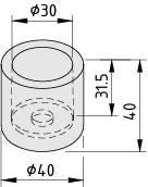 Rohrendkappe D30 ESD, schwarz