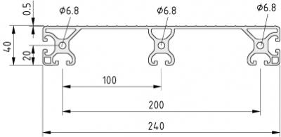 Stufenprofil 8 240, natur