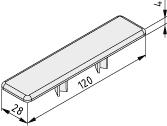 Abdeckkappe LRF 8 D10 120x28, schwarz