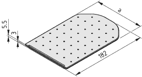 Greifschalendeckel 160, schwarz