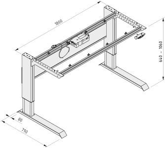 Tischgestell E 1800 120V