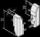 Rahmenprofil-Eckverbindungssatz 8 40x20 180°
