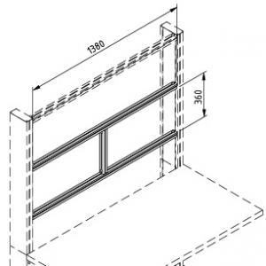 Tischaufsatz Strebensatz H - 1500