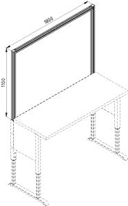 Tischaufsatz F 1800 offen