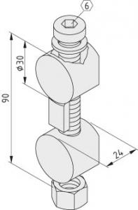 Universal-Stoß-Verbindungssatz 12, verzinkt