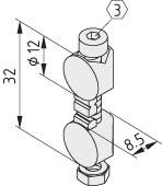 Universal-Stoß-Verbindungssatz 5, rostfrei